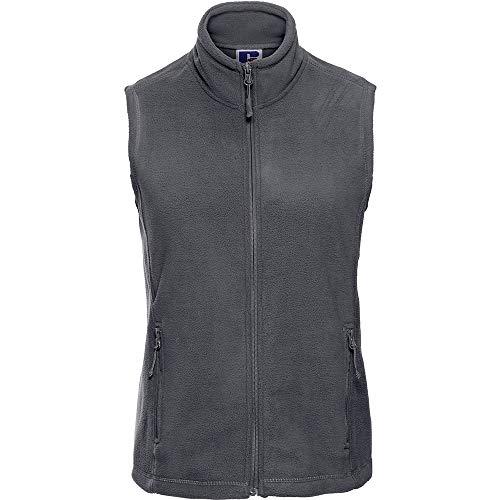 Russell Europe Damen Fleece-Weste / Fleece-Gilet, Anti-Pilling, durchgehender Reißverschluss (M) (Grau)