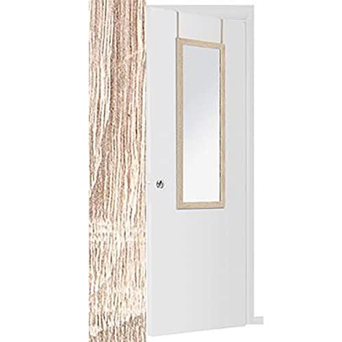 Espejo para Puerta Moderno, Color Marrón/Gris de Madera, para Dormitorio, sin Agujeros - Hogar y Más (Marron)
