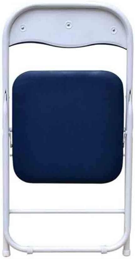 YCSD Chaise Pliante Châssis en Acier Vinyle Rembourré Accueil Bureau D'ordinateur Chaise De Bureau Fauteuil Dossier Pliable - Paquet De 2 (Color : 01) 04