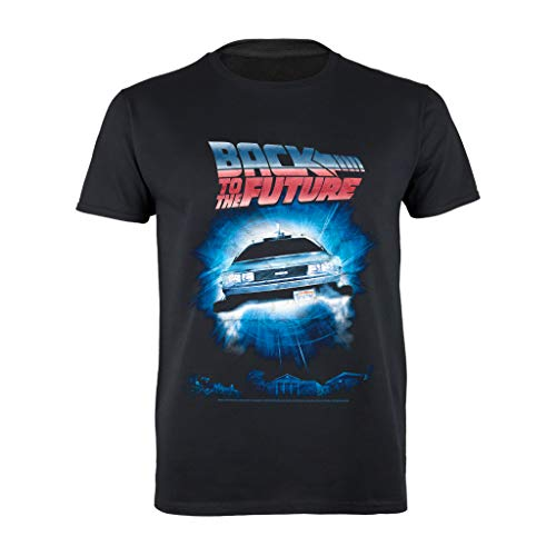 * Bestseller * Officially Licensed Back To The Future DeLorean T-shirt
