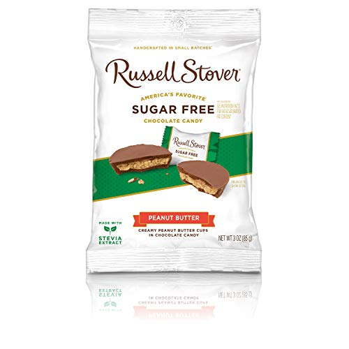 Russell Stover Sugar-Free Peanut Butter Cups, 3 Ounce Peg Bag (Pack of 12)