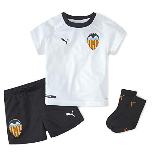 PUMA Valencia CF Temporada 2020/21-Home Babykit White Black Camiseta Primera Equipación, Niño, Negro, 86