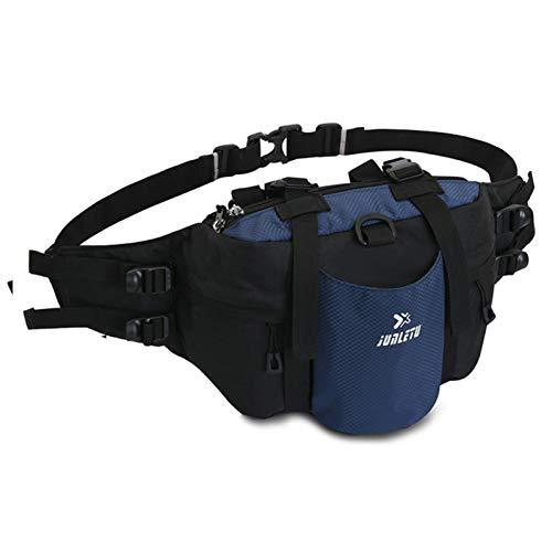 Lixada Sports Waist Pack with Bottle Holder Waterproof Sports Handbag Shoulder Bag Waist Bag for Women Men Running Camping Climbing Cycling Traveling