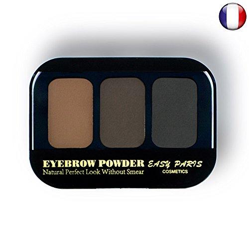 Kit Ombres fard à sourcils poudre crème 3 couleurs Brun chatain Naturel de 123 cosmé 17