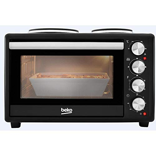 Beko MSH28B Mini Oven and Hob, 18/8 Stainless Steel