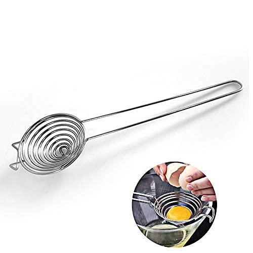 Separador de huevos de acero inoxidable de grado alimenticio, separador de huevos, yema de huevo, filtro blanco, herramienta de cocina para hornear..