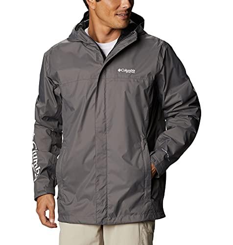 Columbia Men's PFG Storm Jacket, Waterproof & Breathable, City Grey/Black, 2X Tall