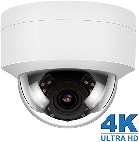4K HD POE IP Kamera Outdoor Innen, 8MP IP Überwachungskamera Nachtsicht Bewegungserkennung wasserdichte Weiter 108°Winkel