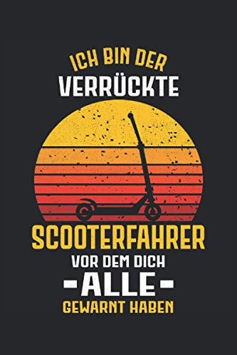 Scooter Stunt Scooter Tretroller Roller E-Scooter Notizbuch