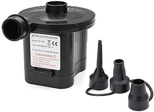 YLOVOW Bomba De Aire Eléctrica Inflador Y Deflactor De Llenado Rápido Portátil con Batería para Inflables Colchón De Aire Cama Piscina Juguete
