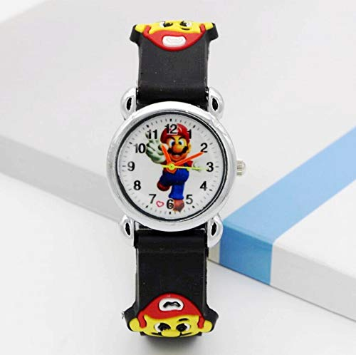 FENGHU Reloj para niños 3D Cartoon Super Mario Doll Kids Watch Children Kids Girls Boys Students Quartz Wristwatches Supermario