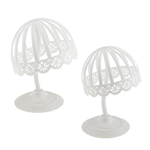 MERIGLARE 2pcs Porte-chapeau et Support de Perruque Présentoir Forme de Dôme