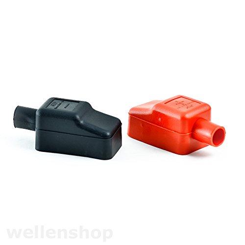 wellenshop Batteriepolabdeckung 2er Set rot & schwarz Batterieklemme Plus Minus Pol