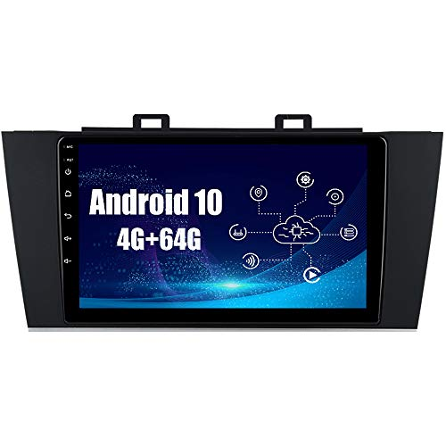 SYGAV Android 10.0 Car Radio Stereo for 2015-2018 Subaru Outback Legacy Built-in Carplay Android Auto 9 inch Touch Screen GPS Navigation Head Unit