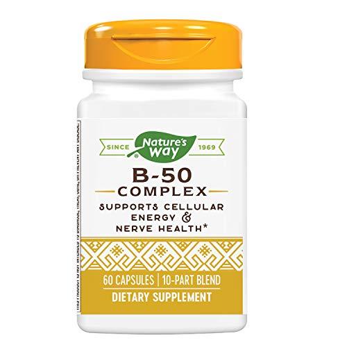 Nature's Way Vitamin B-50 Complex, Capsules, 60-Count