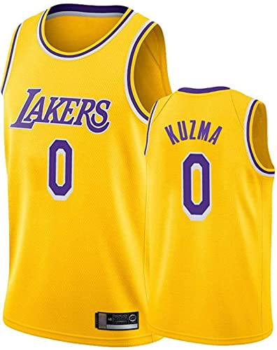 llp Lakers clásicos # 0 Kuzma Basketball Jersey, Unisex Basketball Uniform, Transpirable Sweat-Absorbent Sportswear Jersey (Color : E, Size : X-Large)