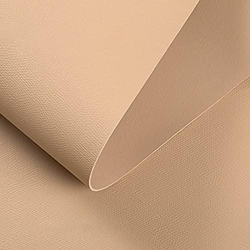 MUYUNXI Polipiel Cuero Artificial De Cuero para Tapizar Sofá Polipiel Silla Manualidades Cojines 138 Cm De Ancho Vendido por Metro(Color:Beige)