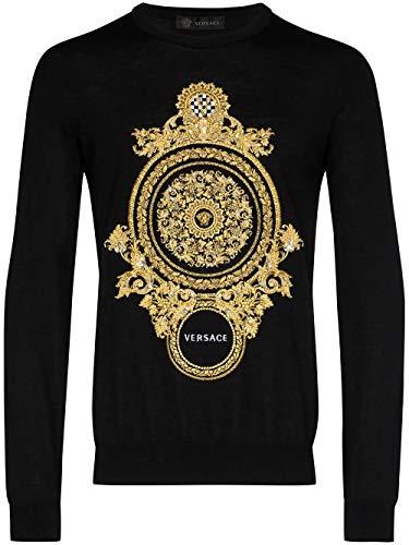 Luxury Fashion | Versace Heren A85007A232492A1008 Zwart Wol Truien | Lente-zomer 20