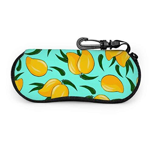 Funda blanda para gafas de sol con diseño de fruta de mango, ligera, portátil, con cremallera