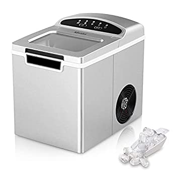 Ice Maker Countertop Machine 26.5 lbs Ice in 24 Hours 9 Bullet Cubes in 7 Mins countertop ice Machine 1.9L Ice Maker Machine for Countertop with Ice Scoop Basket for Home/Kitchen/Office/Bar