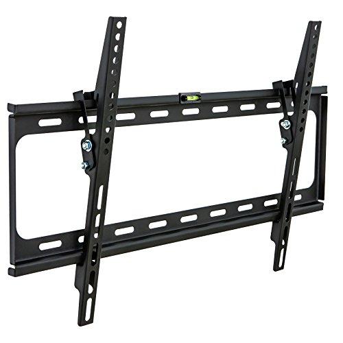 Preisvergleich Produktbild TecTake 401164 TV Wandhalterung neigbar für Flachbildschirme bis VESA 600x400,  81 cm (32 Zoll) bis 160 cm (63 Zoll) Wandabstand nur 27 mm,  belastbar bis 120 kg,  schwarz