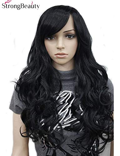 JPDP StrongBeauty Synthetic Long Black Wavy Wigs Full Capless Wig For Women 28inches # 1