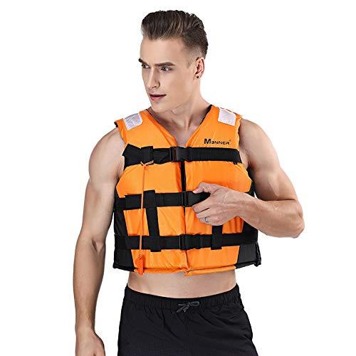 Liawei - Chaleco de salvamento para adulto para niños, chaleco de flotación con silbato y banda reflectante para deportes náuticos, Kayak,Aviron,Tabla de vela,pesca, surf y rafting