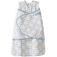 Halo 100% Cotton Muslin Sleepsack Swaddle Wearable Blanket, Gator Plaid, Small