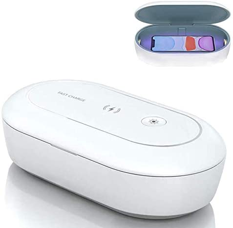 Portable Cell Phone UV Light Sanitizer Box Wireless Charger with USB Charging UV Sterilizer product image