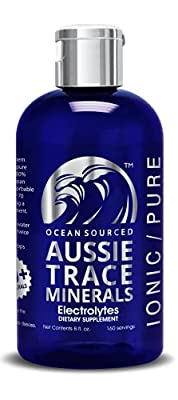 Aussie Trace Minerals (8 oz) - Complete Electrolyte - 3rd Party Tested - Please Consider Your Source. Now Shipping from Our USA Facility. by Sea Minerals Ocean Nutrients
