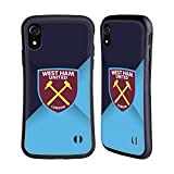 Head Case Designs Licenciado Oficialmente West Ham United FC Degradado Azul Cresta Carcasa híbrida Compatible con Apple iPhone XR