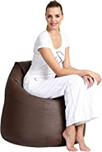 Comfy Pvc Leather Large Bean Bag ,  Dark Brown
