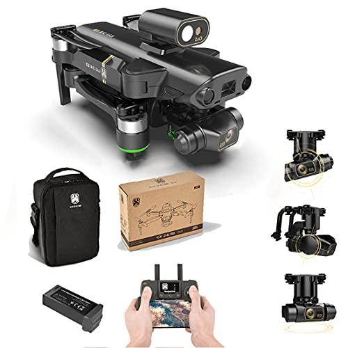 Tewerfitisme KAIONE MAX - Dron plegable 5G WiFi 4K HD de 3 ejes auto-estabilizador cardán Brushless 1200m prevención de obstáculos inteligente FPV Drone con cámara gestos