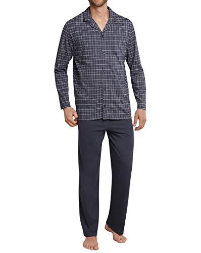 Schiesser 159635 Button Pyjama Anthracite 56