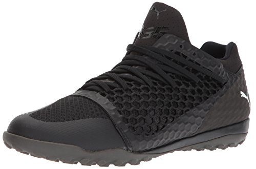 PUMA Men's 365 Netfit ST Soccer Shoe, Black Black White, 12 M US