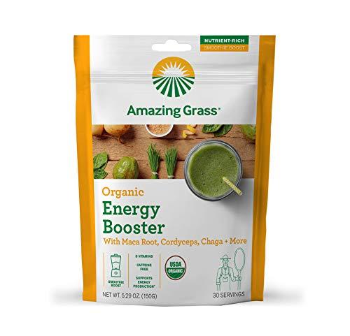 Amazing Grass Energy Booster: Energy Greens Powder, Maca, Cordyceps &...