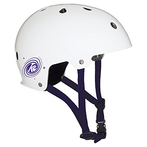 K2 Kinder Inline Skates JR Varsity Helm - Weiß-Violett - M (55-58cm) - 30C4201.1.1.M