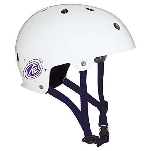 K2 Kinder Inline Skates JR Varsity Helm - Weiß-Violett - L (59-61cm) - 30C4201.1.1.L