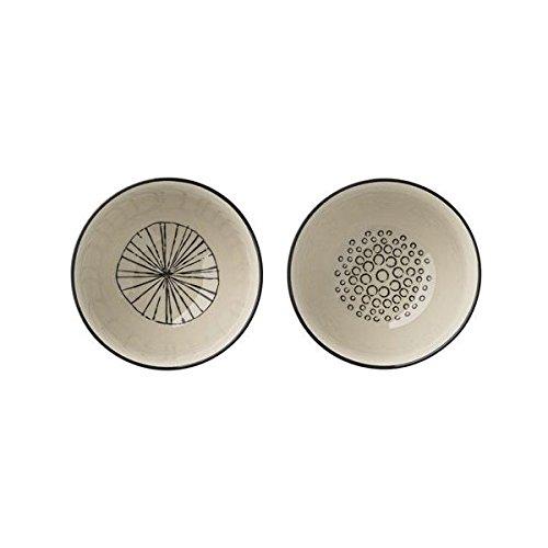 """Bloomingville """"Julie Bowls Schüssel Schölchen Müslischalen (2er Set) Ø11x6,5cm mit schwarz weißem Muster"""