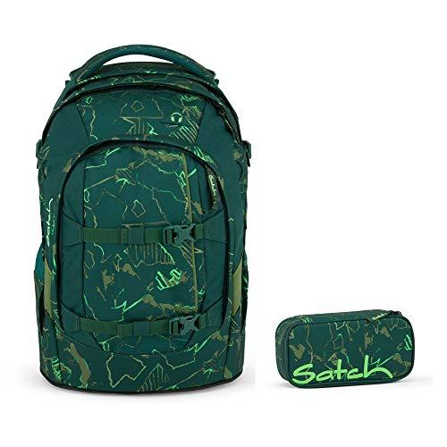 Satch Pack Green Compass 2er Set Schulrucksack & Schlamperbox
