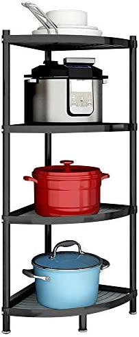 MAN KEN 4 Tier Kitchen pot rack Cookware Stand Storage Organizer Multi layer Corner Shelf Stainless product image