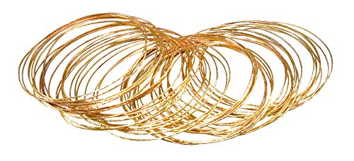 Bristol Novelty BA1002 Bracelet Bangle, Womens, Gold, One Size