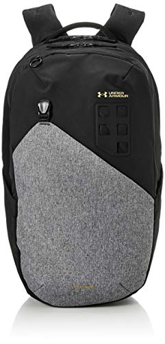 Under Armour Men's Guardian 2.0 Backpack , Jet Gray Medium Heather (010)/Metallic Gold Luster , One Size Fits All