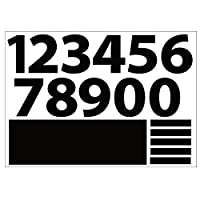 [ABポスター] A4サイズ 切り文字カッティングシート 貼り文字 ガラス文字 装飾文字 アルファベットシール (黒文字:1~0, 6cm・212pt)
