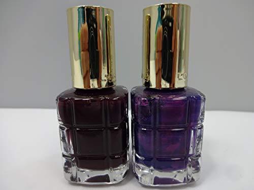 L'Oréal Paris Color Riche Lot de 2 flacons de vernis à ongles 556 Gernat Irreverent et 334 Violete de Nuit