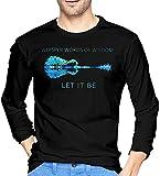 Mens Whisper Words of Wisdom Let It Be Guitar Hip tee Shirt