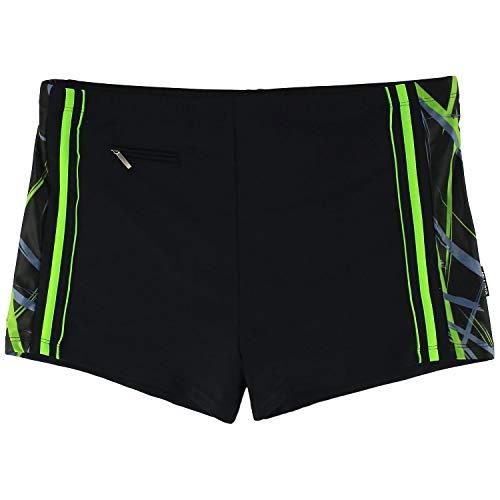 eleMar Badepant Badehose Schwimmhose für Herren in schwarz-grün bis 10XL, Größe:3XL