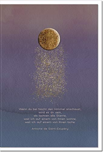 Trauerkarte HOFFNUNG   Sternenstaub   metALUm # 1001156