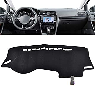 XUKEY Dashboard Cover for Volkswagen VW Golf 7 MK7 2015-2018 Dash Cover Mat