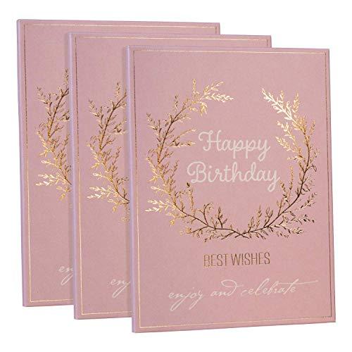 Leo & Lilo luxury wellness moment, 3er Geschenkset erfrischende Tuchmaske mit Tonerde und Extrakten aus Jambú und Algen, in edler Geschenkkartonage mit Golddruck, Motiv Happy Birthday
